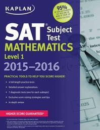 SAT Subject Test Mathematics Level. 1 2015-2016