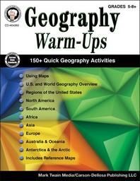 Geography Warm-Ups, Grades 5-8