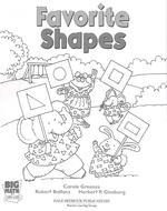 Big Math Little Kids Kindergarten Student Book 2 Favorite Shapes 5 Pack 2003c