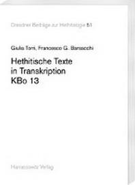 Hethitische Texte in Transkription Kbo 13
