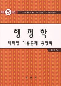 행정학 테마별 기출문제 총정리(2012)(최근5년간)