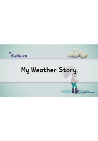 My Weather Story