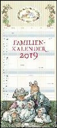 Brombeerhag Familienkalender 2019 - Brambly Hedge - Familien-Planer mit 5 Spalten