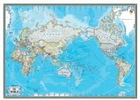 세계지도(행정)(블루)(영문S)(W-013)