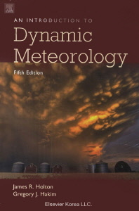 An Introduction to Dynamic Meteorology 5/E