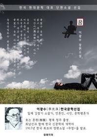 꿈 - 이광수 한국문학선집(장편소설)