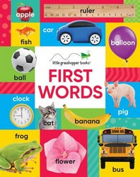 First Words (Large Padded Board Book & Downloadable App!)
