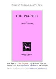 칼릴 지브란의 예언자.The Book of The Prophet, by Kahlil Gibran