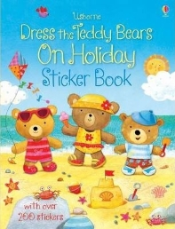 Dress Teddy Bears On Holiday Sticker Bk