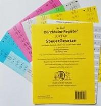 STEUERGESETZE Duerckheim-Register JURTAB mit Stichworten Nr. 2467 (2019)