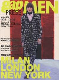 GAP PRESS MEN VOL.63 MILAN/LONDON/NEW YORK (2021-2022A&W)