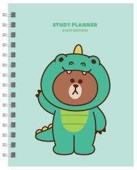 Line Friends Study Planner(라인 프렌즈 스터디 플래너): 다이노 브라운