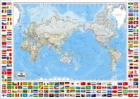 세계지도(만국기)(블루)(한글S)(W-025)