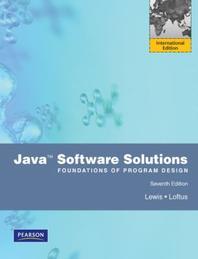 Java Software Solutions(Foundations of Program Design)
