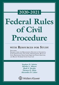 Federal Rules of Civil Procedure with Resources for Study
