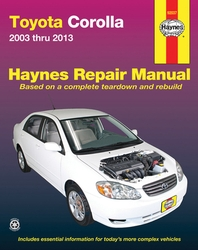 Toyota Corolla 2003 Thru 2013