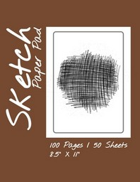 """Sketch Paper Pad 100 Pages / 50 Sheets 8.5"""" x 11"""""""