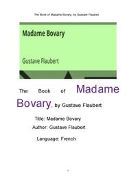 보바리 부인,프랑스어판.The Book of Madame Bovary, French. by Gustave Flaubert