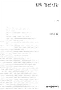 김억 평론선집