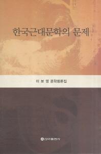 한국근대문학의 문제