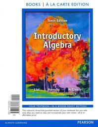 Introductory Algebra, Books a la Carte Edition Plus Mymathlab -- Access Card Package