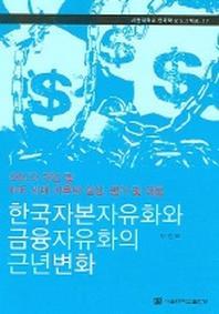 한국자본자유화와 금융자유화의 근년변화
