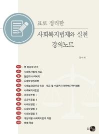 표로 정리한 사회복지법제와 실천 강의노트