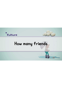 How Many Friends?