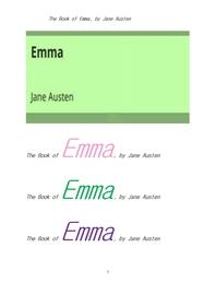 제인 오스틴의 엠마.The Book of Emma, by Jane Austen