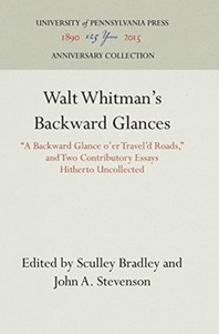 Walt Whitman's Backward Glances