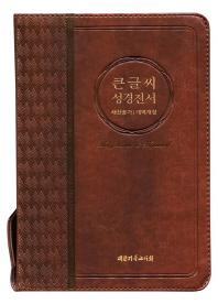 큰글씨 성경전서(NKR73BU)(브라운)(중)(새찬송가)(개역개정)(색인)