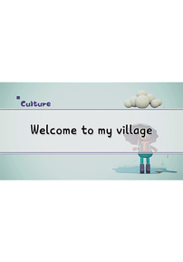 Welcome to My Village