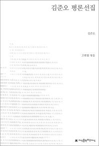 김준오 평론선집