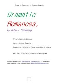 로버트브라우닝의 극적인연애시 드라마틱로망스.Dramatic Romances, by Robert Browning
