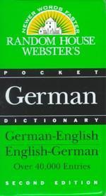 Random House Webster's Pocket German Dictionary, 2nd Edition