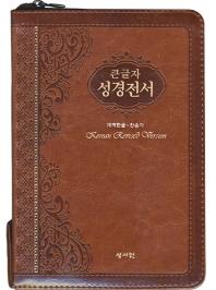 큰글자 성경전서(H73SM/PU/브라운/개역한글/찬송가)