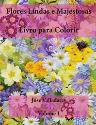 Flores Lindas e Majestosas Livro para Colorir