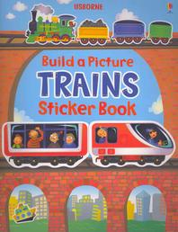 Build a Picture Sticker Trains