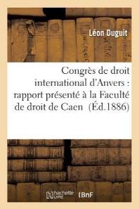 Congres de Droit International D'Anvers