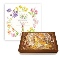 안녕, 우리 들꽃 컬러링북 + 아르누보 색연필 틴케이스 50색 세트
