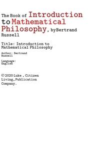 버트런드 러셀의 수리 수학적 철학의 기초적 서론.The Book of Introduction to Mathematical Philosophy,