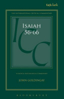 Isaiah 56-66 (ICC) A Critical and Exegetical Commentary