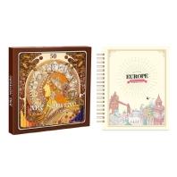 마이 로맨틱 유럽 스티커 컬러링북+아르누보 50색 색연필 세트