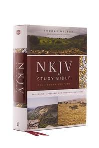 NKJV Study Bible, Hardcover, Full-Color, Red Letter Edition, Comfort Print