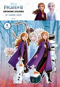 겨울왕국2 아트웍 스티커: 엘사와안나 6종