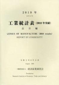 工業統計表 品目編 2019年(2018年實績)