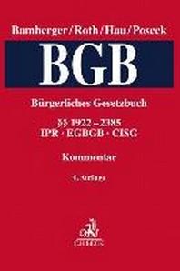 Buergerliches Gesetzbuch  Band 5: ¡×¡× 1922-2385, CISG, IPR, EGBGB