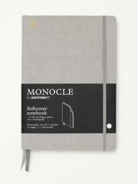 모노클 소프트커버 도트 노트 B5 라이트 그레이(Monocle Booklinen Softcover Dot B5 Light Grey)