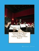 Classical Sheet Music For Clarinet With Clarinet & Piano Duets Book 2
