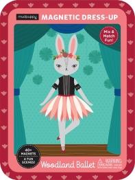 Mudpuppy Woodland Animal Ballerina Magnetic Dress-Up